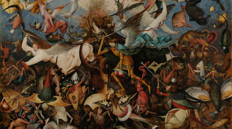 The Fall of the Rebel Angels, by Pieter Bruegel the Elder, c. 1562. Royal Museums of Fine Arts of Belgium, Brussels, Belgium. Via IllustratedPrayer.com