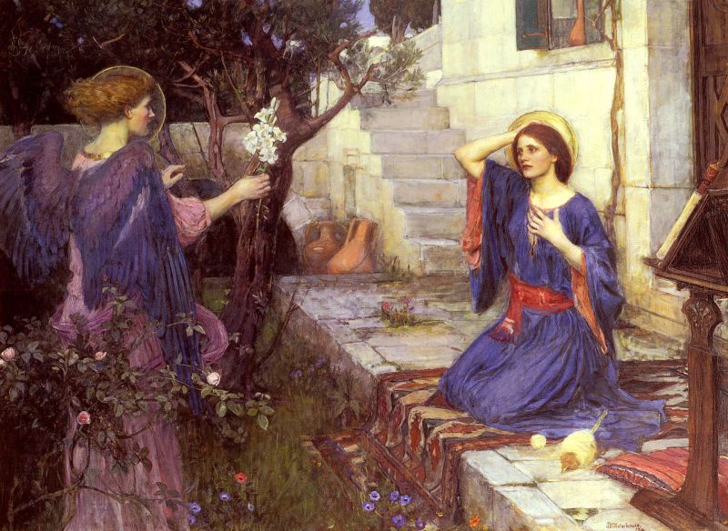 The Annunciation, by John William Waterhouse, c. 1914. Private Collection. Via IllustratedPrayer.com