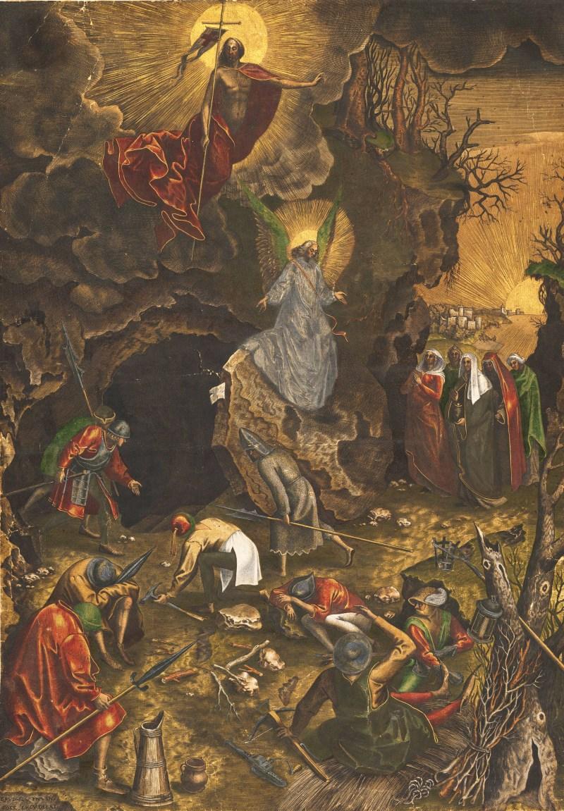 The Resurrection, by Philips Galle and Pieter Bruegel the Elder, c. 1562-63. Metropolitan Museum, New York, New York, United States. Via IllustratedPrayer.com