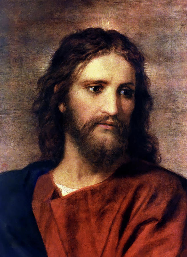 Christ at 33, by Heinrich Hofmann, c. 1889. Via IllustratedPrayer.com