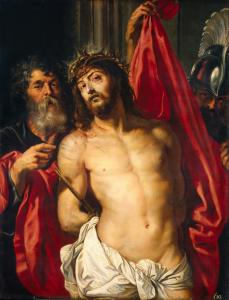 Ecce Homo, by Peter Paul Rubens, c. 1612. State Hermitage Museum, St. Petersburg, Russia. Via IllustratedPrayer.com