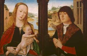 Virgin and Child and a Donor, by Flemish School, c. 1490-1500. The Courtauld Gallery, London, United Kingdom. Via IllustratedPrayer.com