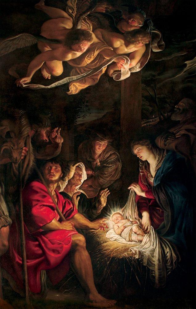 The Adoration of the Shepherds, by Peter Paul Rubens, c. 1607. Pinacoteca Civica, Fermo, Italy. Via IllustratedPrayer.com
