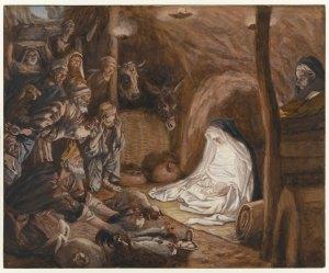 Adoration of the Shepherds, by James Tissot, c. 1886-94. Brooklyn Museum, New York, New York, United States. Via IllustratedPrayer.com