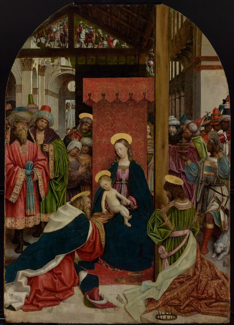 Adoration of the Magi, by Defendente Ferrari, c. 1520. J. Paul Getty Museum, Los Angeles, California, United States. Via IllustratedPrayer.com