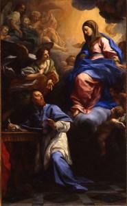 Virgin and Child Appearing to St. Francis de Sales, by Carlo Maratta, c. 1691. Via IllustratedPrayer.com
