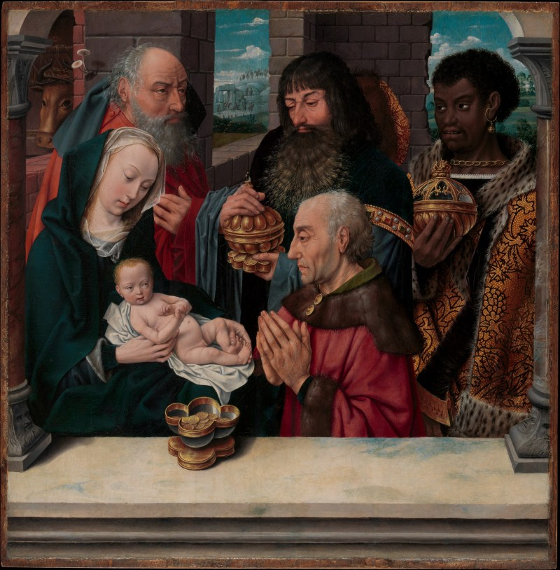 Adoration of the Magi, by Hugo van der Goes, c. 15th century. Metropolitan Museum of Art, New York, New York, United States. Via IllustratedPrayer.com
