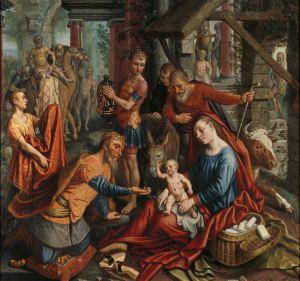 The Adoration of the Magi, by Pieter Aertsen, c. 1560. Rijksmuseum, Amsterdam, Netherlands. Via IllustratedPrayer.com