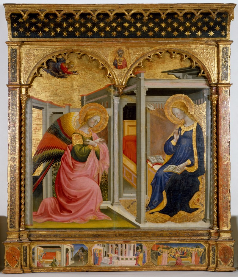 The Annunciation, by Stefano d'Antonio di Vanni, c. 1430. Walters Art Museum, Baltimore, Maryland, United States. Via IllustratedPrayer.com
