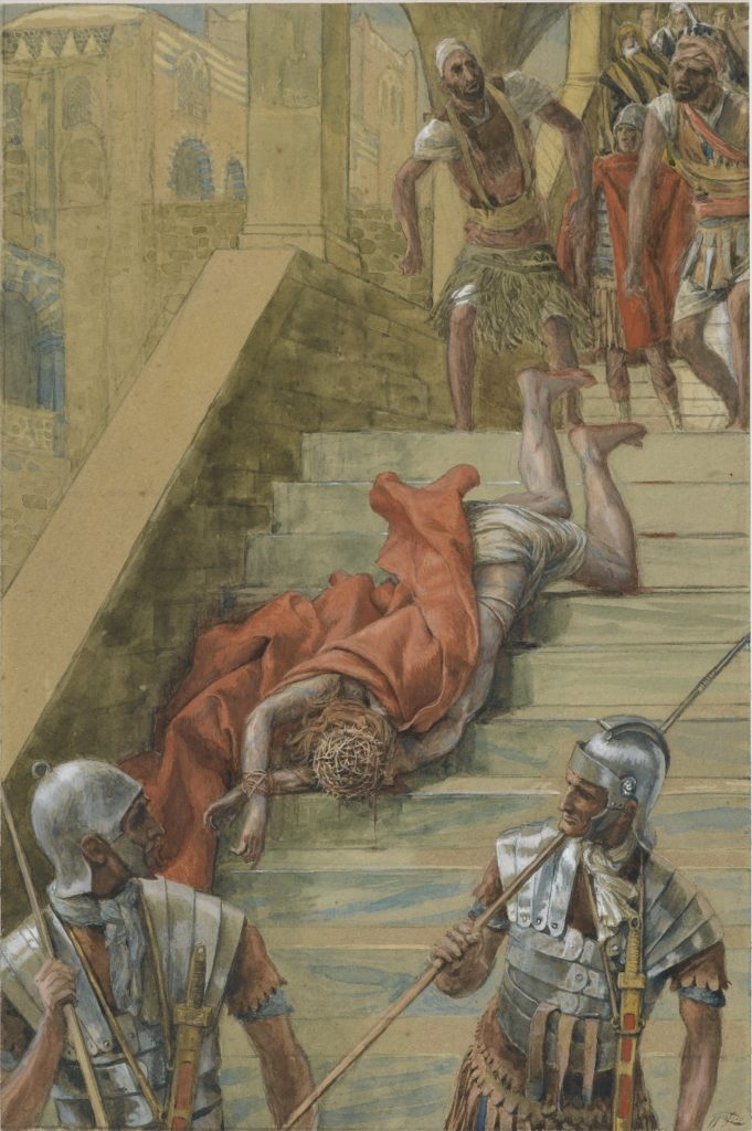 La Scala Santa, by James Tissot, c. 1886-94. Brooklyn Museum, New York, New York, United States. Via IllustratedPrayer.com