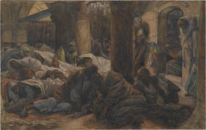 """""""They have taken away the Lord!"""", by James Tissot, c. 1886-94. Brooklyn Museum, New York, New York, United States. Via IllustratedPrayer.com"""