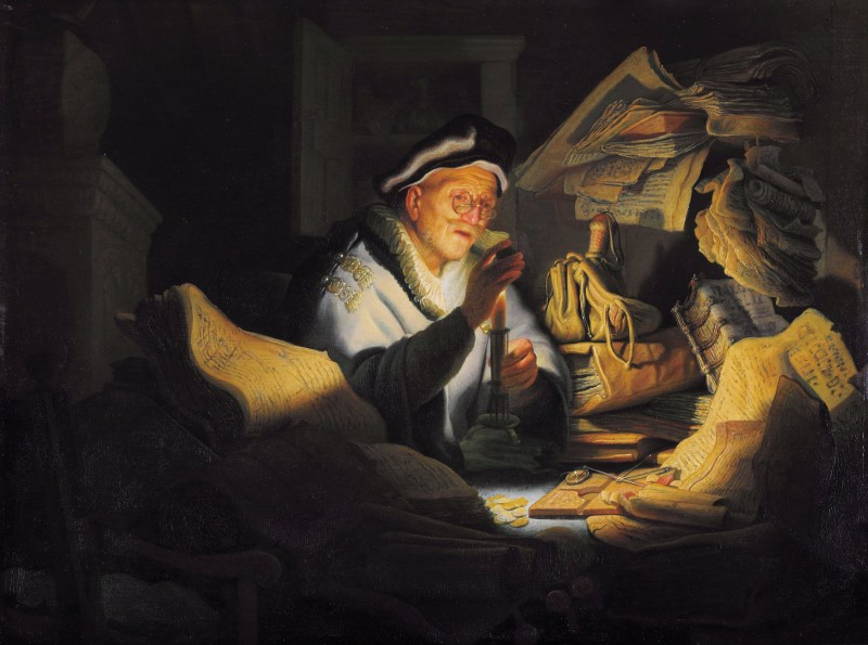 Parable of the Rich Man, by Rembrandt