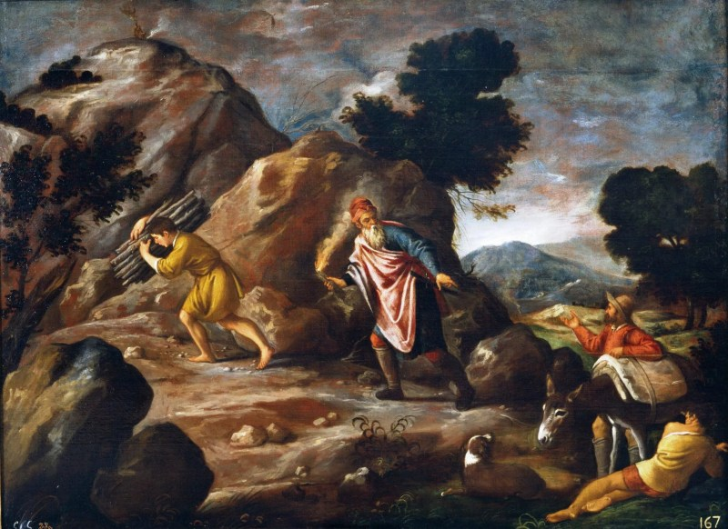 Abraham and Isaac Walk to the Sacrifice, by Pedro Orrente, c. 17th century. Museo del Prado, Madrid, Spain.