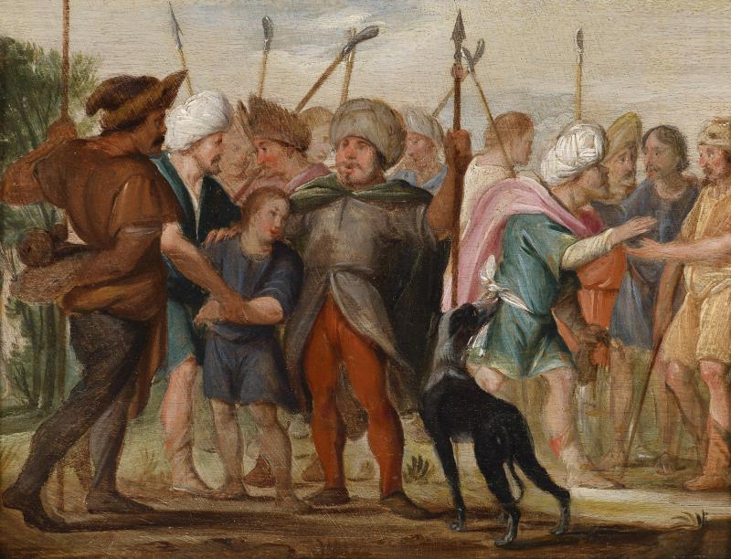Joseph Sold By His Brothers, by Adriaen van Nieulandt the Younger, c. 1658. Private collection.
