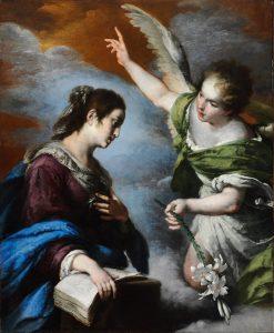 The Annunciation, by Bernardo Strozzi, c. 1644. Museum of Fine Arts, Budapest, Hungary.