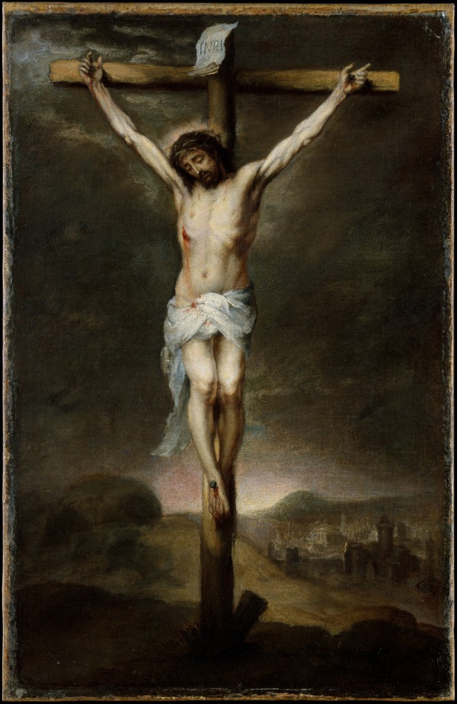 The Crucifixion, by Bartolomé Estebán Murillo, c. 1675. Metropolitan Museum of Art, New York, New York, United States.