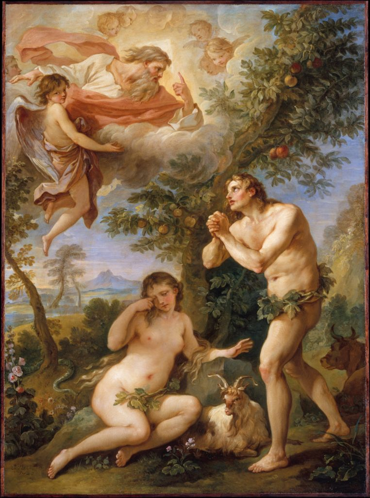 The Rebuke of Adam and Eve, by Charles Joseph Natoire, c. 1740. Metropolitan Museum of Art, New York, New York, United States.