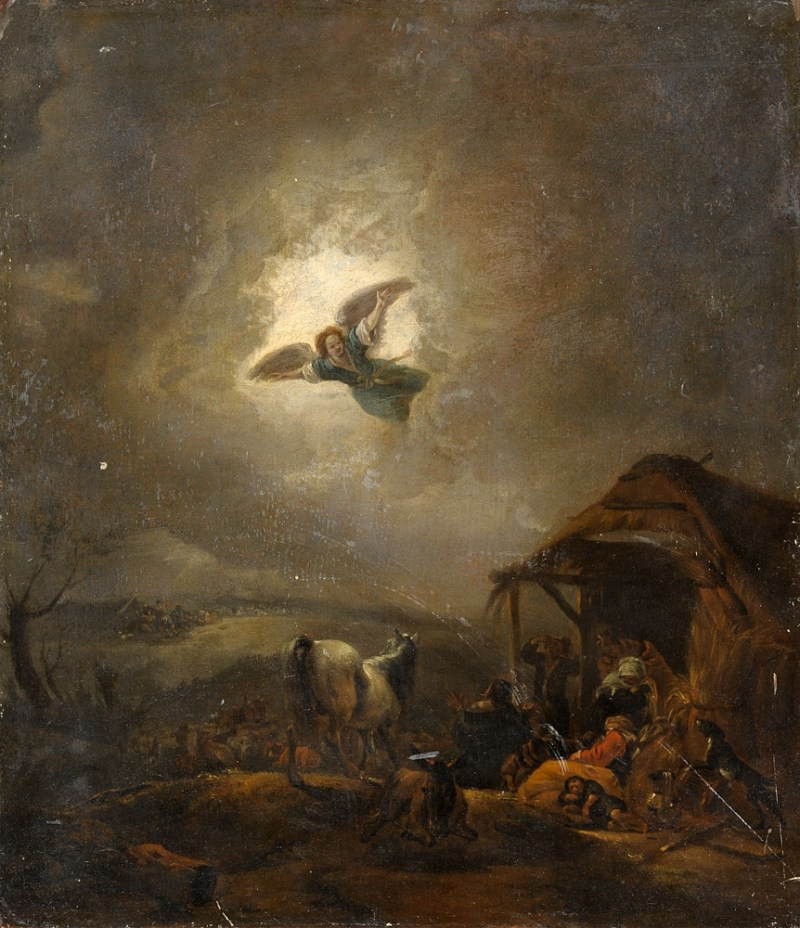 Annunciation to the Shepherds, c. 17th century. Private collection.