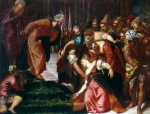 Esther before Ahasuerus, by Jacopo Tintoretto, c. 1546-47. Royal Collection Trust, London, United Kingdom.