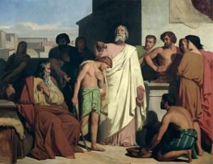 Anointing of David by Samuel, by Feliz-Joseph Barrias, c. 1842. Musée du Petit Palais, Paris, France.