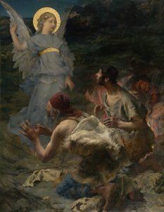 The Annunciation to the Shepherds, by Jules Bastien Lepage, c. 1875. National Gallery of Victoria, Melbourne, Australia.
