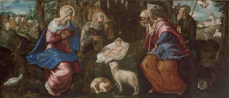 The Nativity, by  Jacopo Tintoretto, c. 1550-70. Museum of Fine Arts, Boston, Massachusetts, United States.