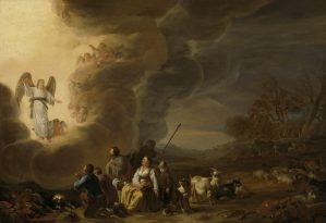 Annunciation to the Shepherds, by Cornelis Saftleven, c. 1630-50. Rijksmuseum, Amsterdam, Netherlands.