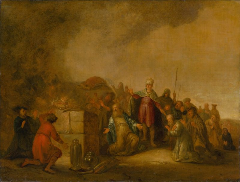 Elijah and the Prophets of Baal on Mount Carmel, by Jacob Willemsz., c. 1640-50. Slovak National Gallery, Bratislava, Slovakia