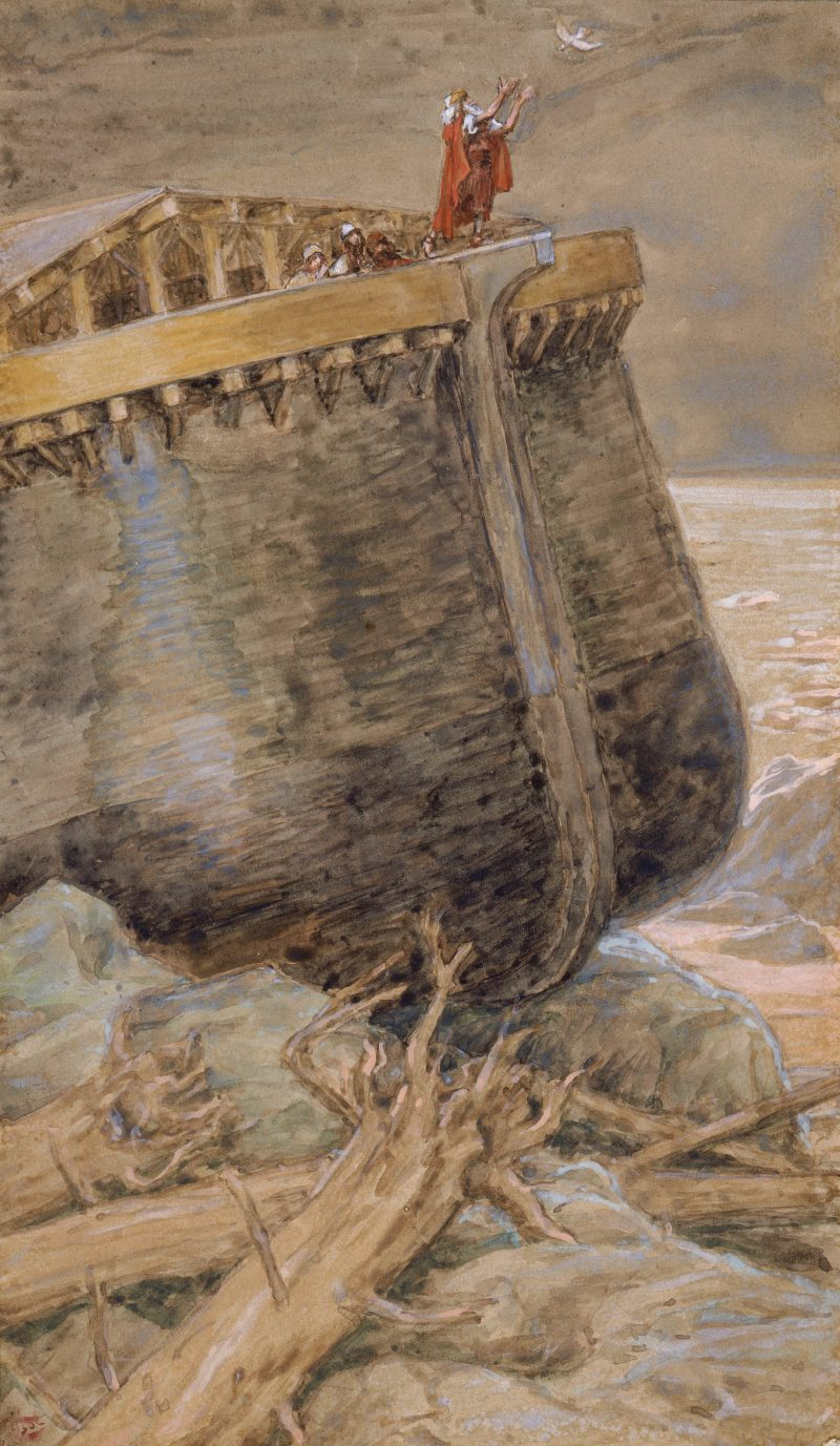 The Dove Returns to Noah, by James Tissot, c. 1896-1902. Jewish Museum, New York, New York, United States.