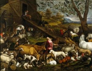 The Animals Entering Noah's Ark, by Jacopo Bassano, c. 1570s. Museo del Prado, Madrid, Spain.
