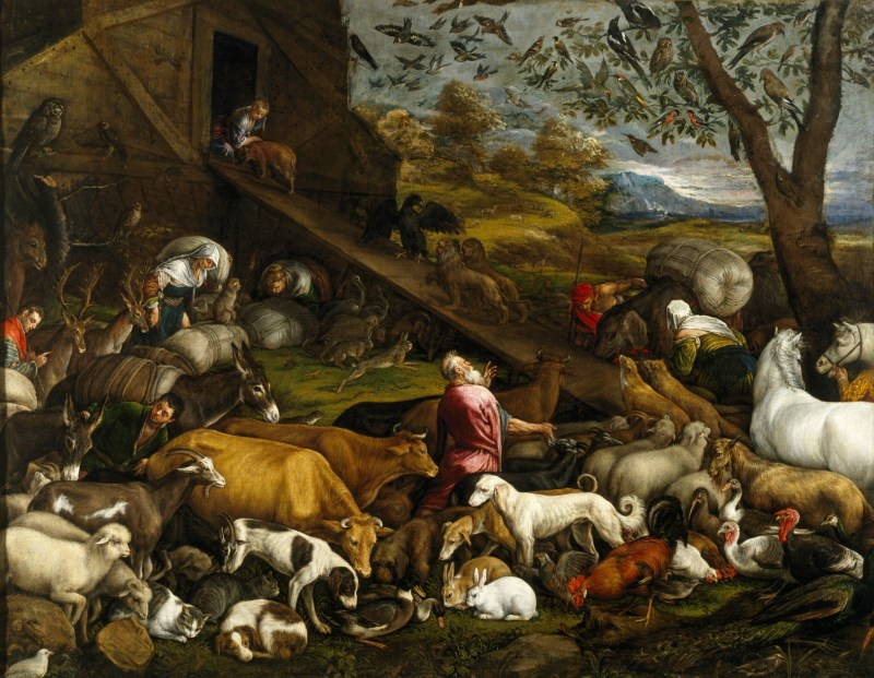 The Animals Entering Noah's Ark, by Jacopo Bassano, c. 1570s. Museo del Prado, Madrid, Spain.