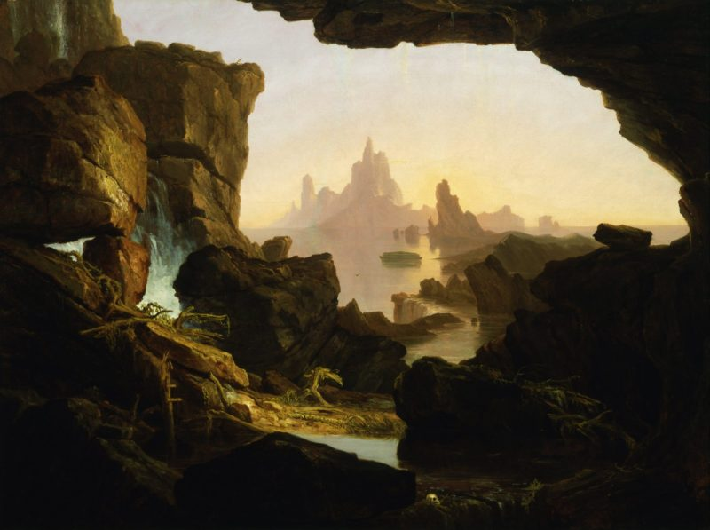 The Subsiding of the Waters of the Deluge, by Thomas Cole, c. 1829. Smithsonian American Art Museum, Washington D.C., United States.