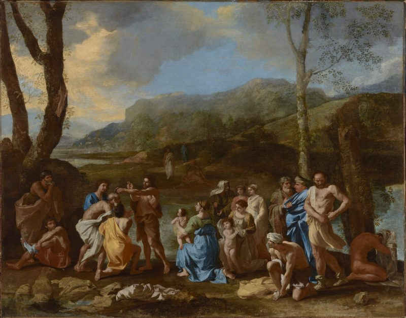 Saint John Baptizing in the River Jordan, by Nicolas Poussin, c. 1630s. J. Paul Getty Museum, Los Angeles, California, United States.