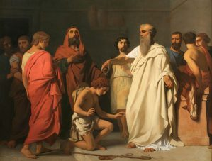 The Anointing of David by Samuel, by François-Léon Benouville, c. 1842. Columbus Museum of Art, Columbus, Ohio, United States.