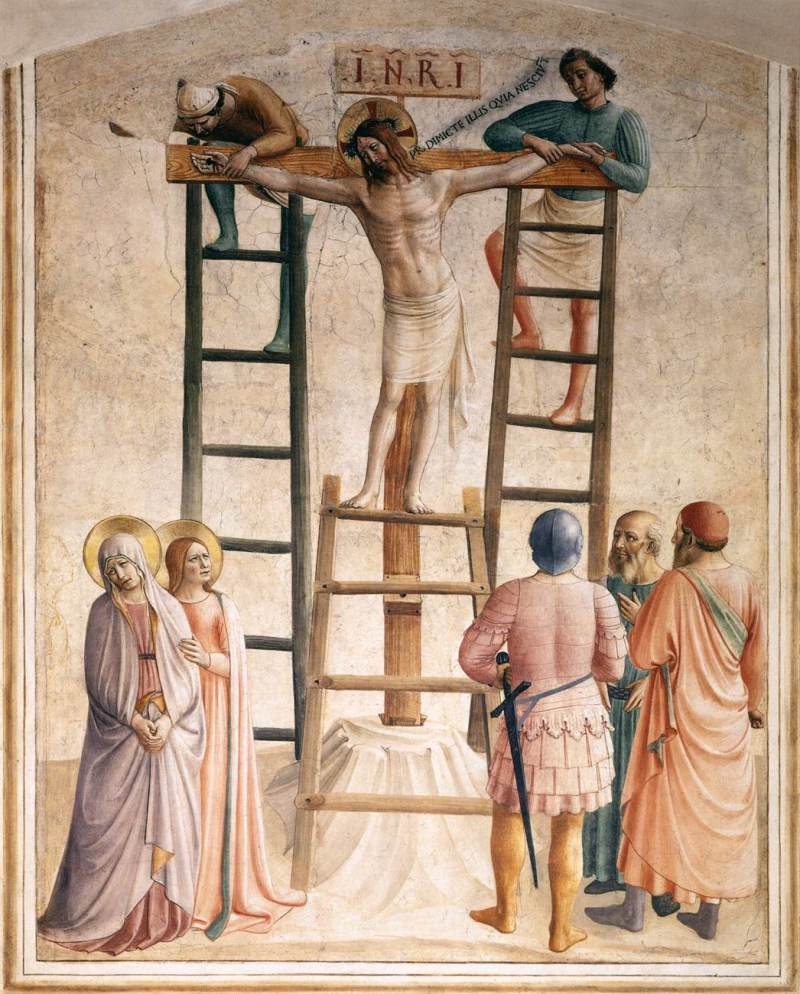 Nailing to the Cross, by Fra Angelico, c. 15th century. Convento di San Marco (cell 36), Florence, Italy.