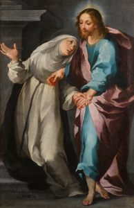 Christ Exchanging His Heart with Saint Catherine, by Ventura Salimbeni,