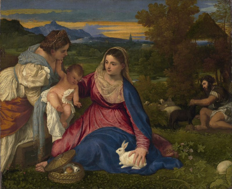 The Madonna of the Rabbit, by Titian, c. 1530. Louvre Museum, Paris, France.