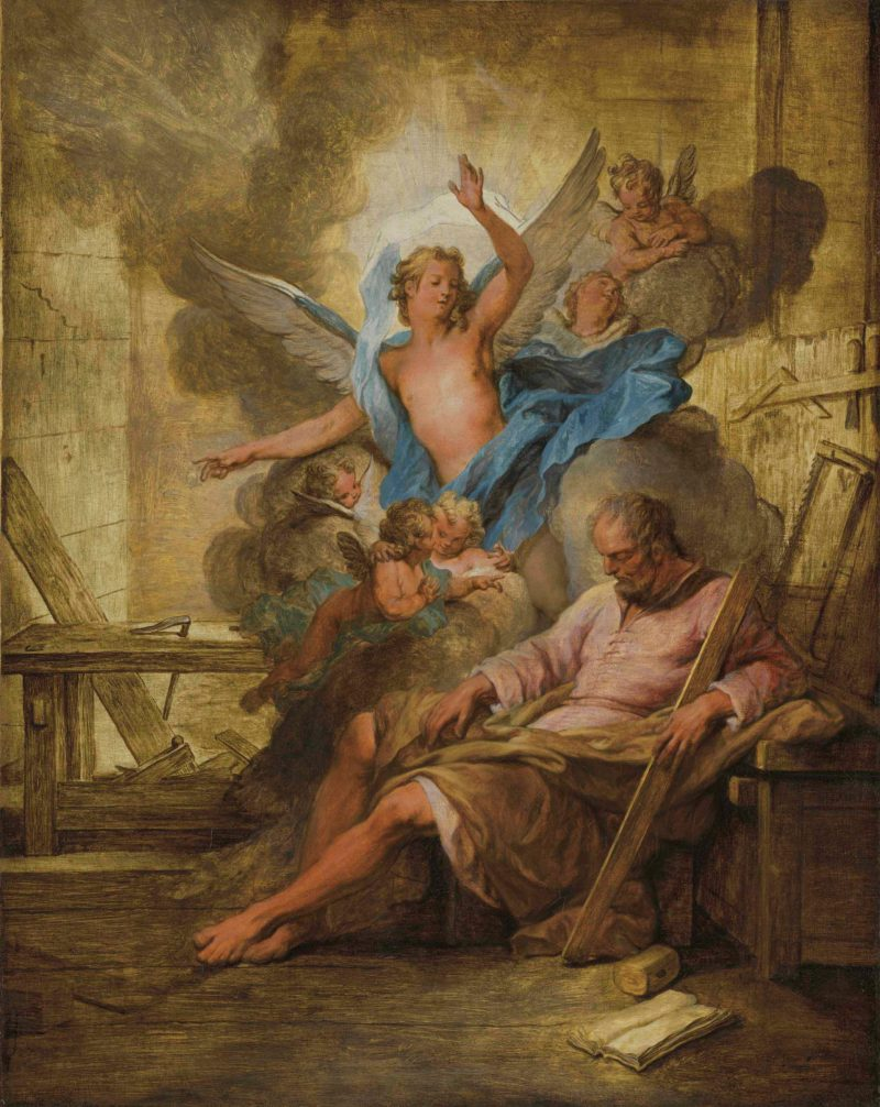 The Dream of Saint Joseph, by Nicolas Bertin, c. 18th century. Private collection.
