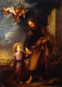 St Joseph Leading the Christ Child, by Bartolomé Esteban Murillo, c. 1670s. Hermitage Museum, St. Petersburg, Russia.