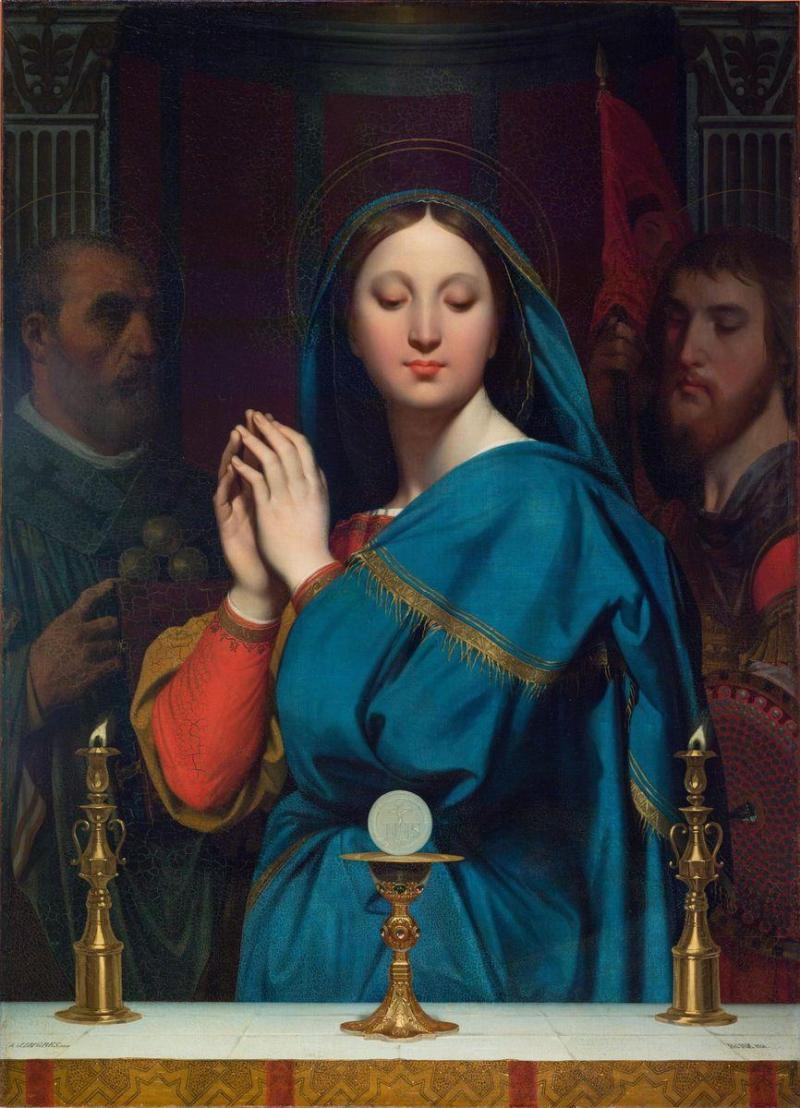 Madonna with Chalice, by Jean Auguste Dominic Ingres, c. 1841. Pushkin Museum of Fine Arts, Moscow, Russia.