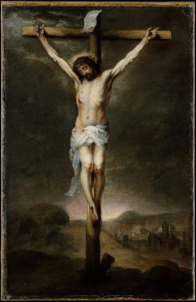 The Crucifixion, by Bartolomé Estebán Murillo, c. 1675. Metropolitan Museum, New York, New York, United States.