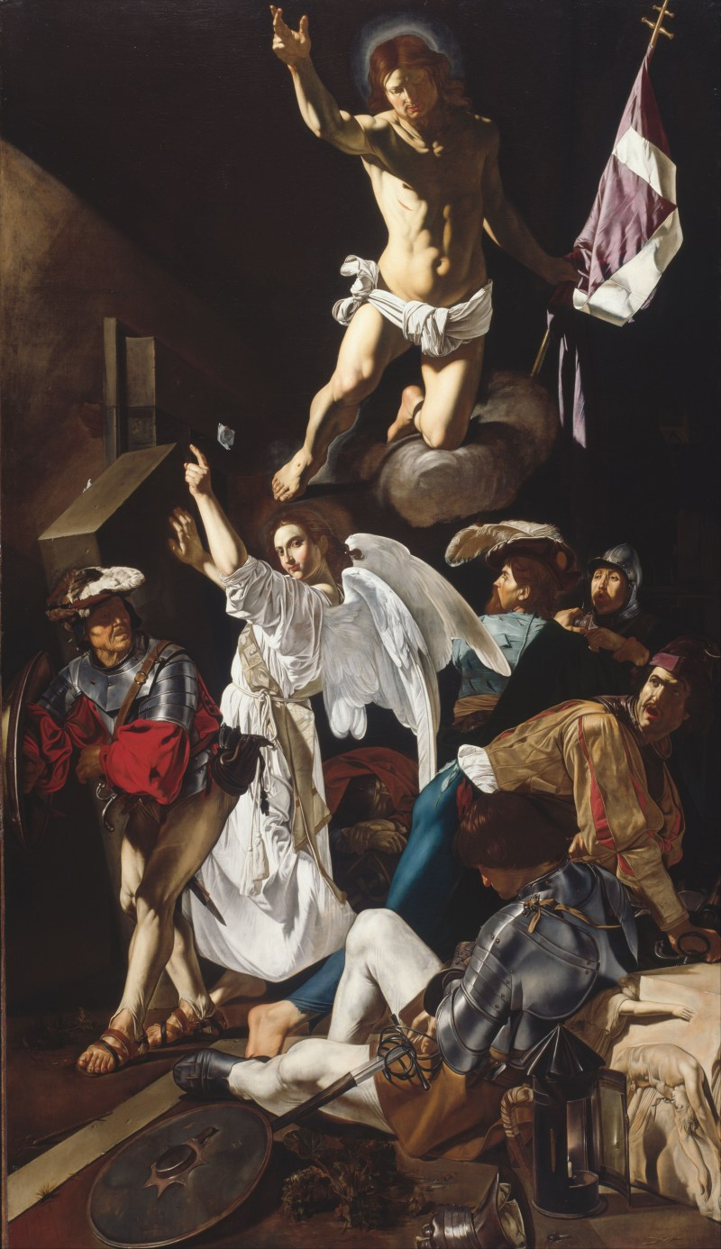 The Resurrection, by Francesco Buoneri, called Cecco del Caravaggio, c. 1619-20. Art Institute of Chicago, Chicago, Illinois, United States.