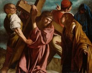 Carrying of the Cross, by Orazio Gentileschi, c. 1606-07. Kunsthistorisches, Vienna, Austria.