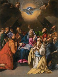 Pentecost, by Juan Bautista Maino, c. 1615-20. Museo del Prado, Madrid, Spain.