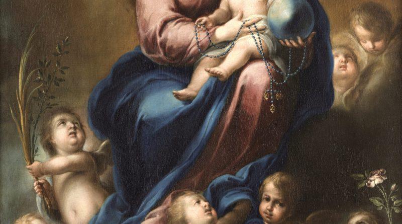 Virgin of the Rosary, by Domingo Martinez, c. 1740-50. Museo de Bellas Artes de Sevilla, Seville, Spain.