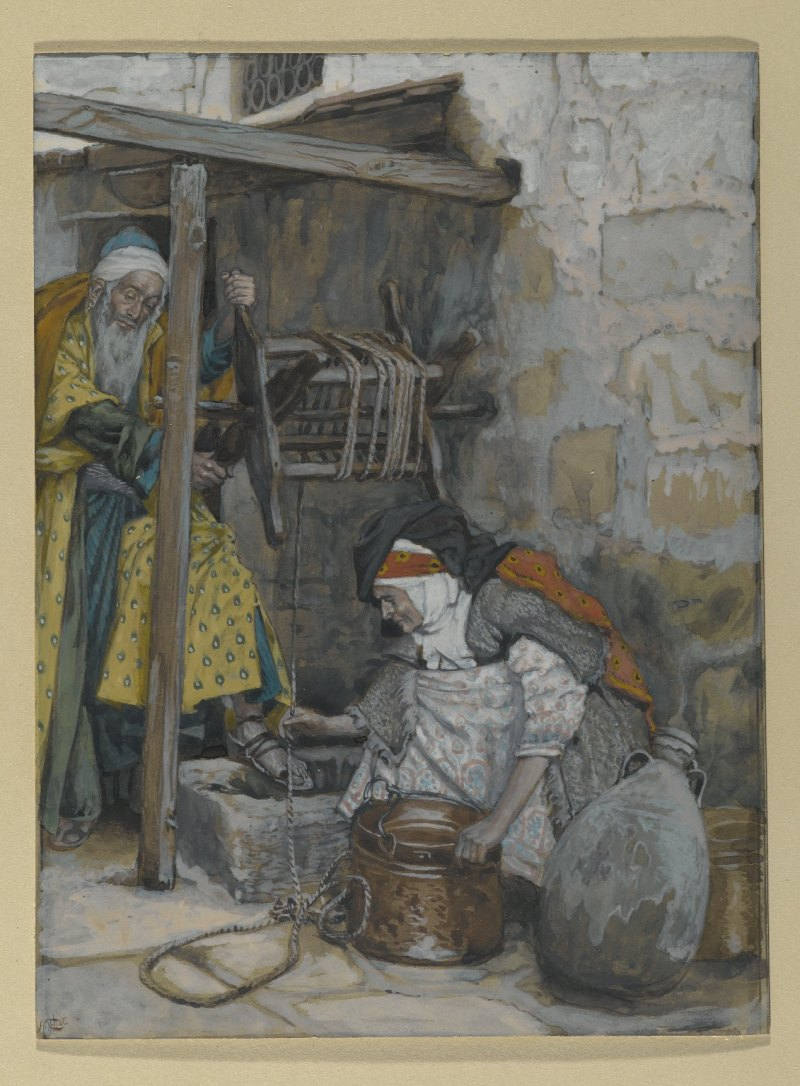 Portrait of Zacharias and Elizabeth, by James Tissot, c. 1886-94. Brooklyn Museum, New York, New York, United States.