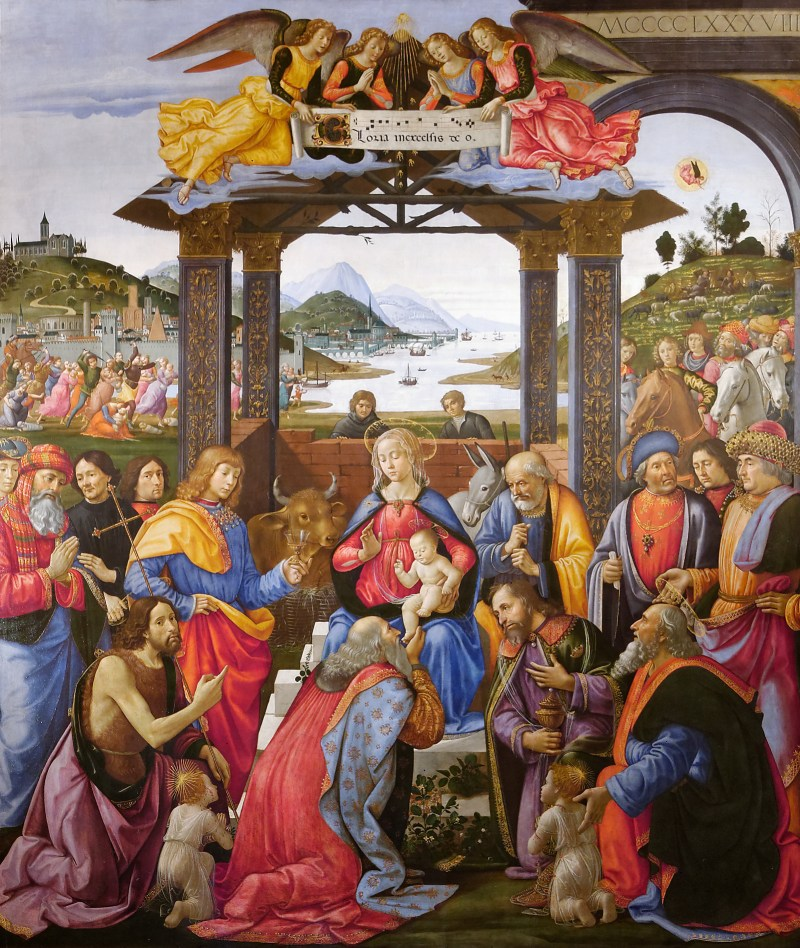 Adoration of the Magi, by Domenico Ghirlandaio, c. 1485-88. Ospedale degli Innocenti, Florence, Italy.