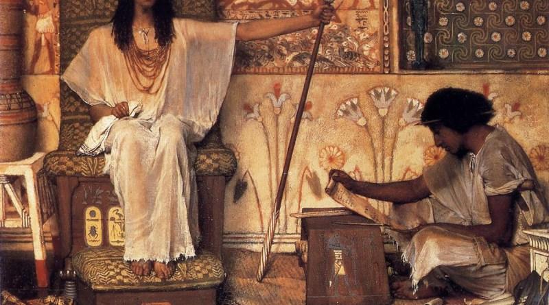 Joseph, Overseer of Pharaoh's Granaries, by Lawrence Alma-Tadema, c. 1874. Dahesh Museum of Art, New York, New York, United States.