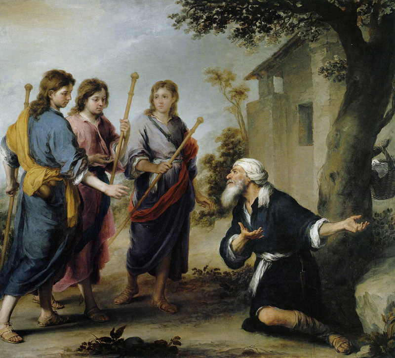 Abraham and the Three Angels, by Bartolomé Esteban Murillo, 1670-74. National Gallery of Canada, Ottawa, Ontario, Canada.