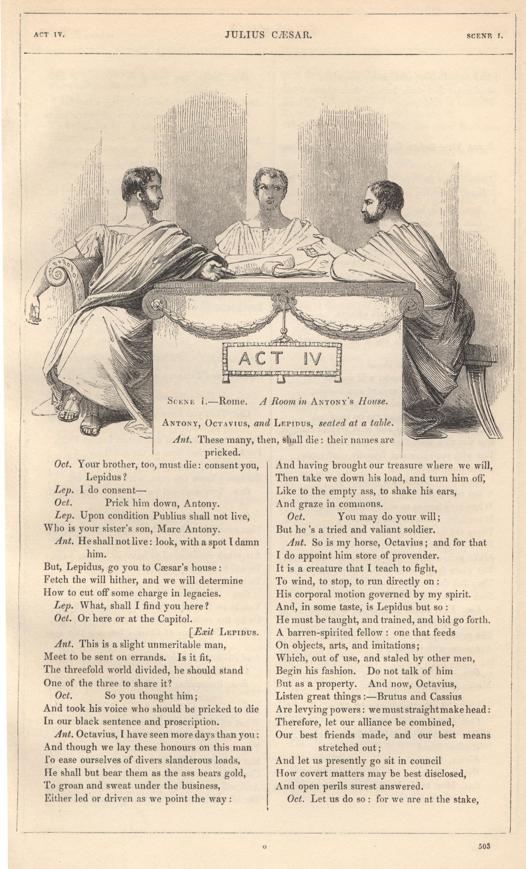 Julius Caesar Act Iv Header